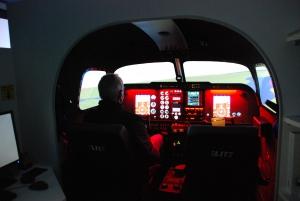 Simulator Cockpit Innenansicht
