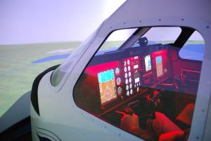 Simulator Cockpit Außenansicht